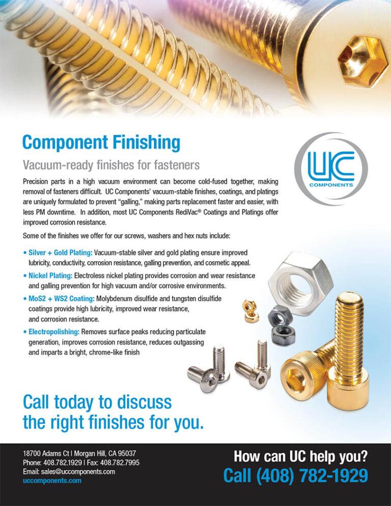 UC RediVac® vacuum-ready component finishing