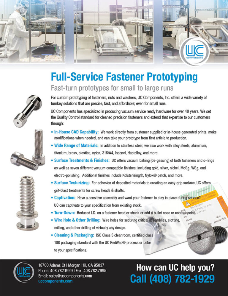UC full service fastener prototyping